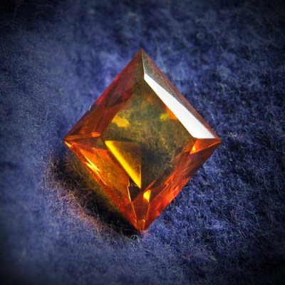 Faceted amber..