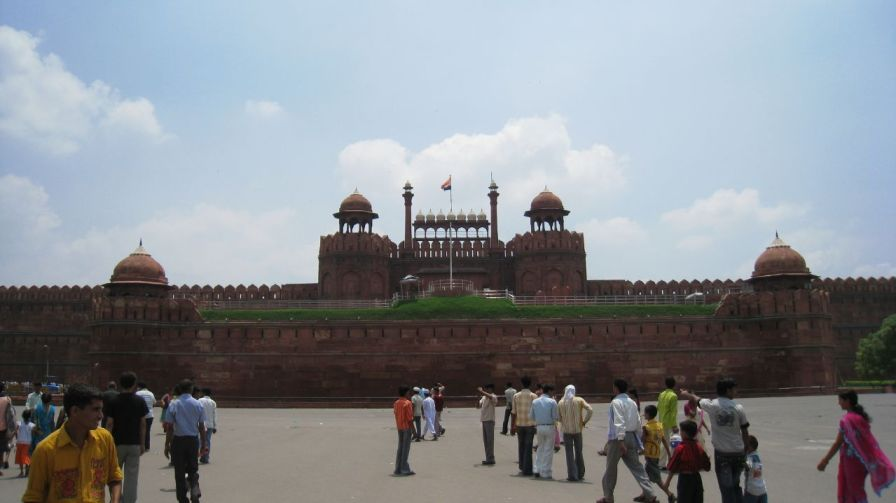 The Lahori Gate is one of the two main entrances to Delhi's Red Fort.