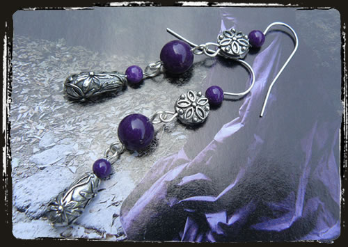 Orecchini viola - Purple handmade earrings MEHGVFI