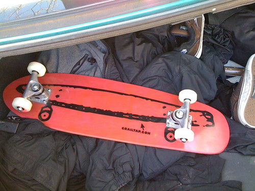 Crailboard in trunk
