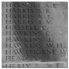 names on a wall