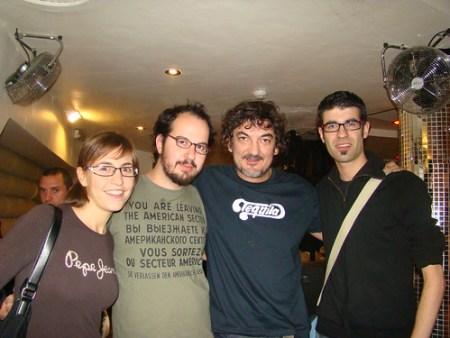 Con Mario Raya y Tony Jurado