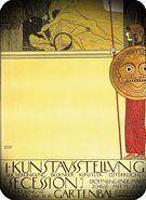 Gustav Klimt. Cartel. 1ª Exhibición de la Secesión, 1898.