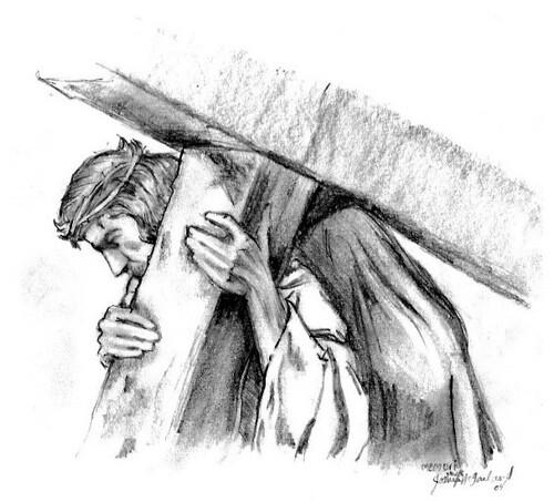 Resultado de imagem para carregando a cruz