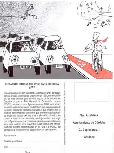 Demanda Infraestructuras para Bicicletas en Córdoba.