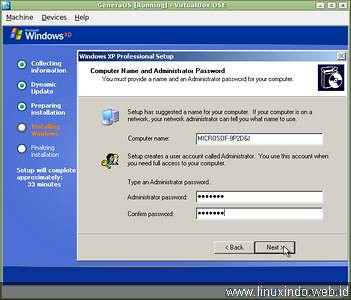 enter password admin