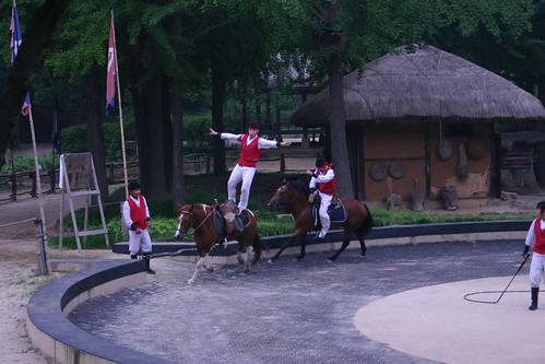 Brave young horsemen