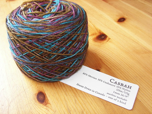Remember this yarn?  Its waiting to become a scarf!