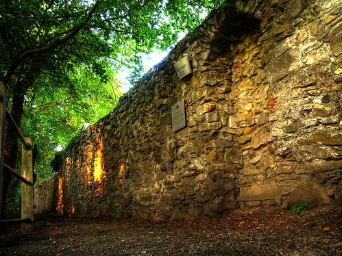 An old stone wall in the small town of Pugstall where we stayed for a few nights