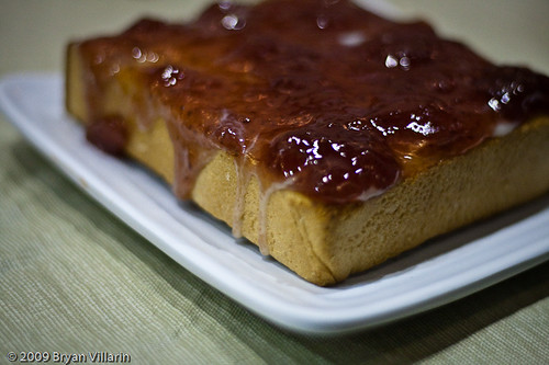 Strawberry jam toast