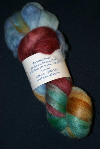 The Painted Sheep alpaca/merino/silk fiber in Dublin Lake