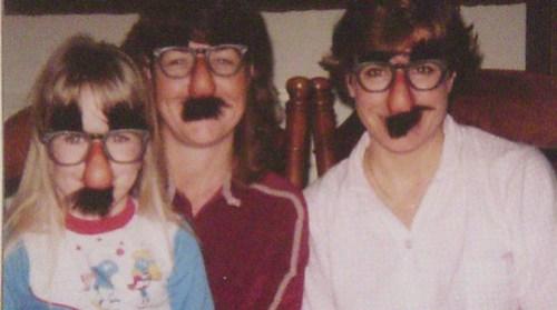 Me, my mom, Aunt Lynn circa 1984ish.
