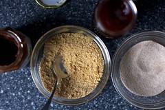 faux-nutella, brown sugar and jam