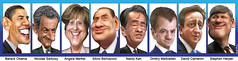 G8 Leaders (May 2011) Caricatures