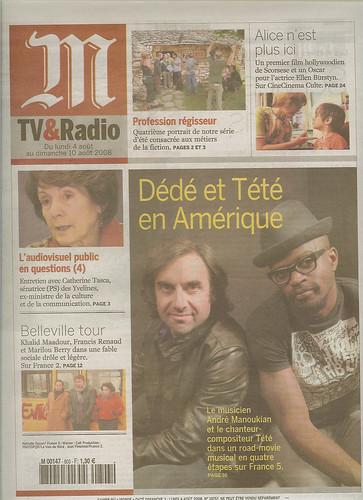 Dédé et Tété Couv Monde Tv Radio 4 aout 2008