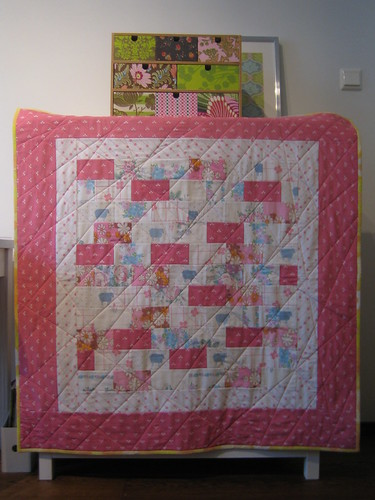 spring baby quilt front