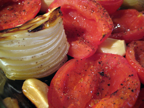 Roasted Tomatoes, garlic and onion