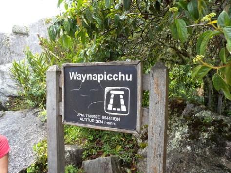 Wayna Picchu altitude