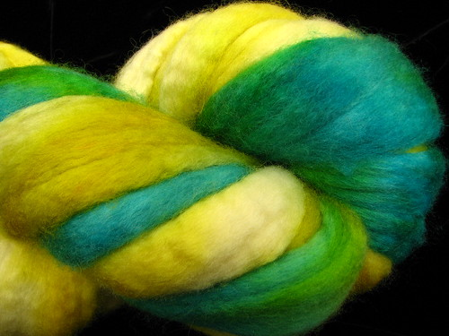 Oliver Hand painted Blue Faced Leicester Wool Roving