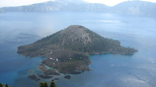 Wizard Island from Watchman Peak