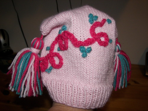 Childs Ear Hat with tassels