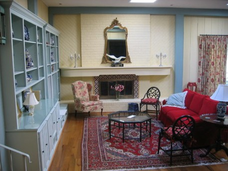 Eclectic Great Room with Antiques