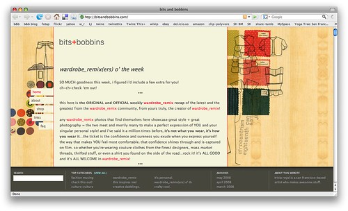 bits and bobbins site redesign!