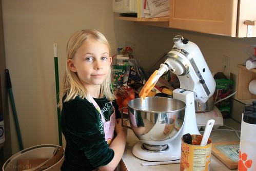 Making Pumpkin Rolls