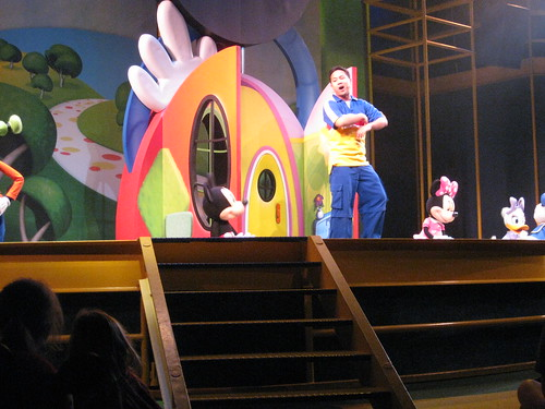 This wasnt at all what I expected.  Turns out that it was more of a puppet show than anything else.  But, we did see Mickey, Minnie, Goofy, Donald and a really energetic Filipino looking guy.