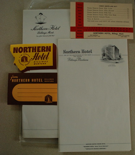Northern Hotel stationery