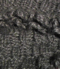 Detail of Basketweave hat and neckwarmer