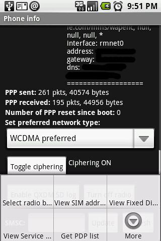 09. Phone Info menu 1