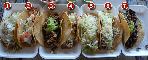 Seven delicious tacos