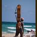 músico de playa