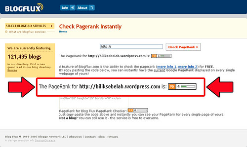 Page Rank 7th July 2008