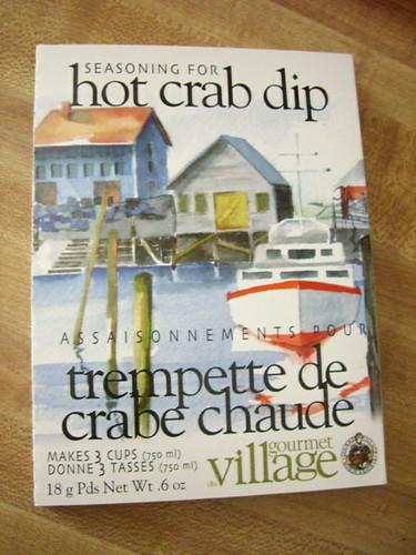 hot crab dip box