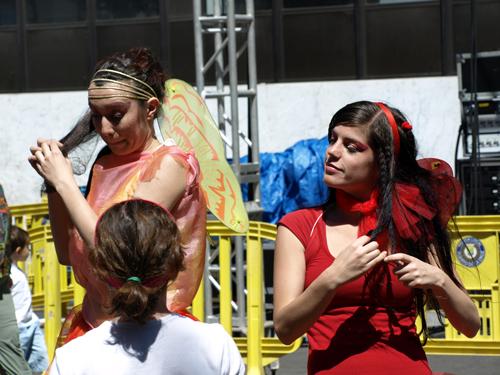 Fairy antics at Mueca 2008 in Puerto de la Cruz