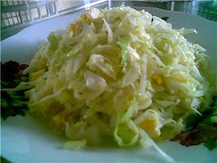 Fried cabbage with egg
