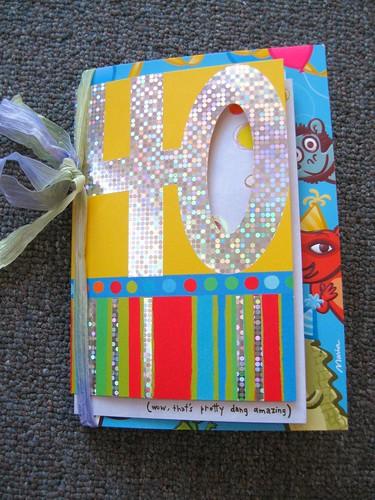 40th birthday mini-journal
