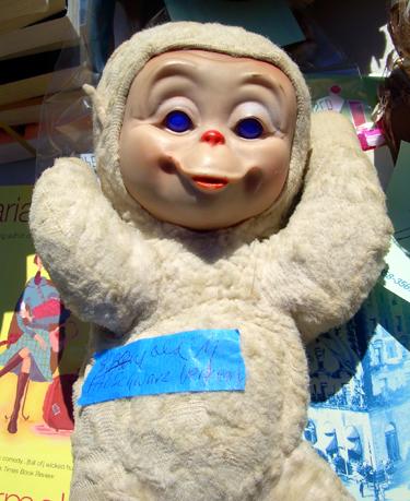 Disturbingly freaky monkey toy