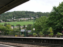 Waiting at Bath Spa train station for our train back to London