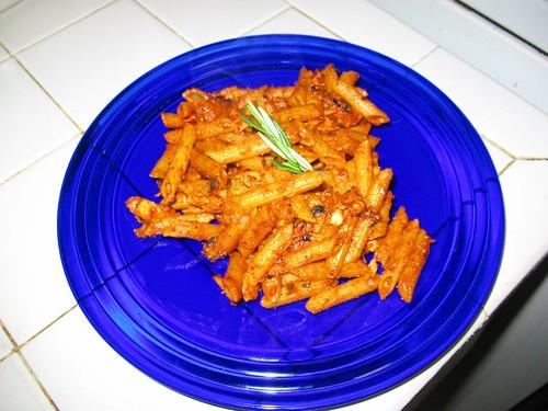 Pasta with Rosemary Cream Sauce