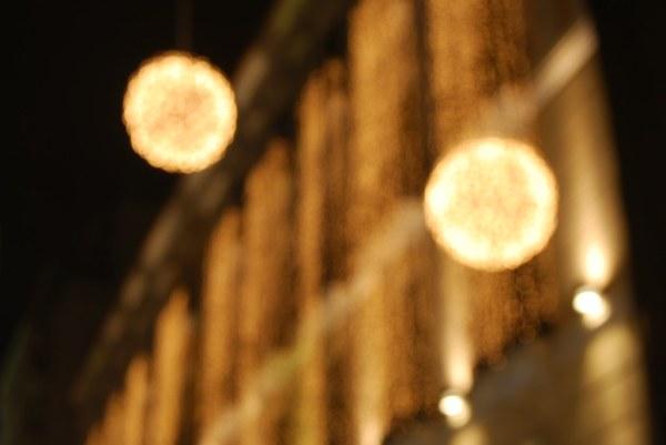 Luces navideñas difuminadas