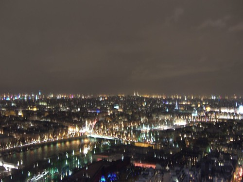 Paris at night from the Eiffel Tower