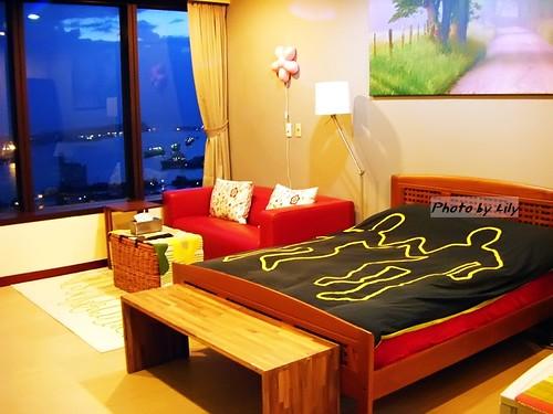 85宜家民宿的沙發及床組。