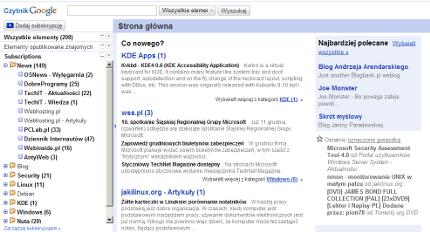 Odświeżony Czytnik Google