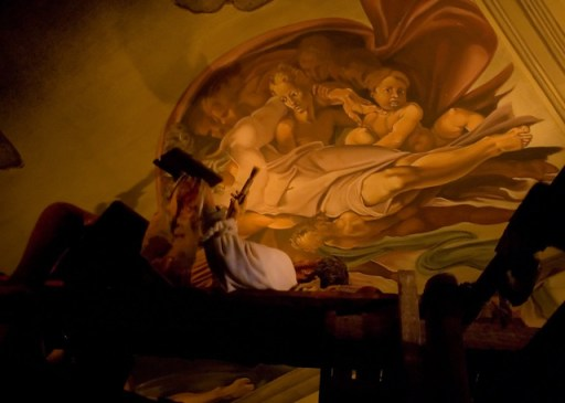 EPCOT's SpaceShip Earth - Michelangelo Paints the Sistine Chapel