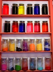 a pigment store in marrakech