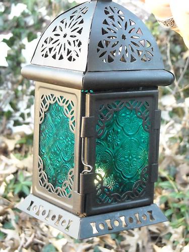 Teal Lantern (Christmas gift) lit 2
