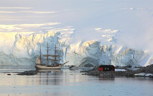 Port Lockroy and the Europa.